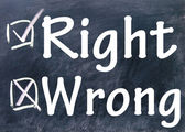 Rigth and wrong choice — 图库照片