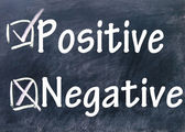 Negative and positive choice — Stock Photo