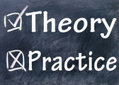 Practice and theory choice — Stock Photo