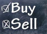 Comprar e vender a escolha — Fotografia Stock