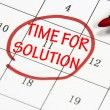 Time for solution sign — Foto Stock