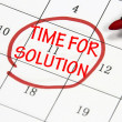 Stock Photo: Time for solution sign