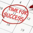 Stock Photo: Time for success sign