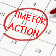 Time for action sign — Stock Photo #23615037
