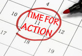 Time for action sign — Stock Photo