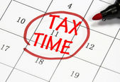 Tax time date — Stock Photo