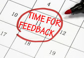 Time to feedback date — Stock Photo