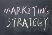 Marketing strategy title — Stock Photo