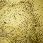Brazil map — Stock Photo