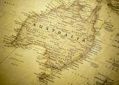 Australien-karte — Stockfoto