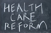 Health care reform sign — Foto Stock