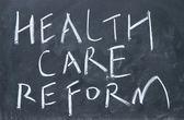 Signo de la reforma de salud — Foto de Stock