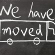 Stock Photo: We have moved sign