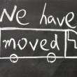 We have moved sign — Stock Photo #23719881