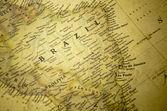 Brasilien karte — Stockfoto