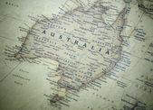 Mapa austrálie — Stock fotografie