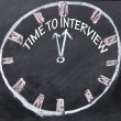 Time to interview clock sign — 图库照片