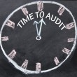 Time to audit clock sign — Stock Photo