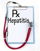 Hepatitis sign — Stock Photo