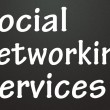 Stock Photo: Social networking services title