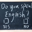 Do you speak english test — Stock Photo #24053343