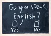 Do you speak english test — Stock Photo