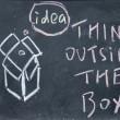 Think outside box — Stock Photo #24074461