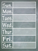 Week table — Stock Photo