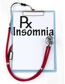 Insomnia sign — Stock Photo