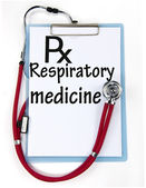 Respiratory medicine sign — Stock Photo