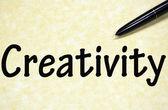 Titolo di creatività scritto con penna su carta — Foto Stock