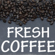Fresh coffee sign — Stock Photo