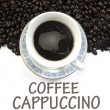 Coffee cappuccino sign — Stock Photo