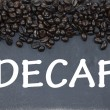 Stock Photo: Decaf coffee sign