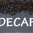 Decaf coffee sign — Stock Photo
