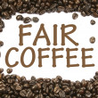 Fair coffee sign - Stock Photo