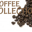 Coffee collection sign — Foto Stock