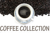 Coffee collection sign — Stock Photo
