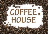 Coffee house sign — Stock Photo