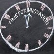 Stock Photo: Time for innovation clock