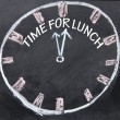 Stock Photo: Time for lunch clock