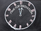 Time for innovation clock — Stock Photo
