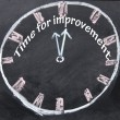 Stock Photo: Time for improvement clock