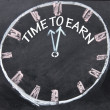 图库照片: Time to earn clock