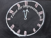 Time for improvement clock — Stockfoto