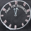 Time for business clock — Stock Photo
