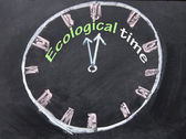Ecological time clock — Stock Photo