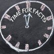 Time for facts clock — Stock Photo