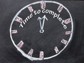 Time to complete clock — Stock Photo