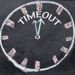 Time out clock  — Stockfoto
